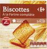 Biscottes à la farine complète - Produit