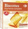 Biscottes à la farine complète - Prodotto