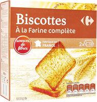 Biscottes à la farine complète - Product - fr
