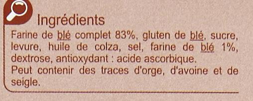 Biscottes à la farine complète - Ingredients - fr