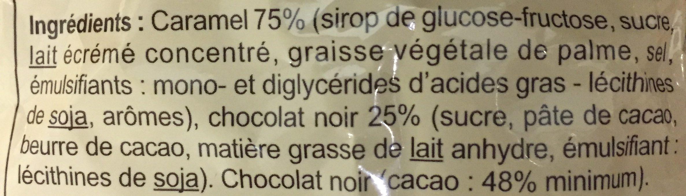 CARAM'CHOC Caramels tendres - Ingrediënten - fr