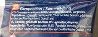 Crevettes Nordiques  Sauvages - Ingredients - fr