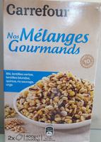 Nos mélanges Gourmands - Blé Lentilles Vertes, lentilles blondes, quinoa, riz sauvage, orge - Product - fr