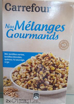 Nos mélanges Gourmands - Blé Lentilles Vertes, lentilles blondes, quinoa, riz sauvage, orge - Produit - fr