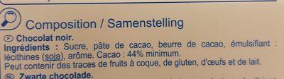 Chocolat noir - Ingrediënten - fr