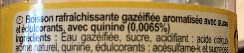 Tonic - Informations nutritionnelles