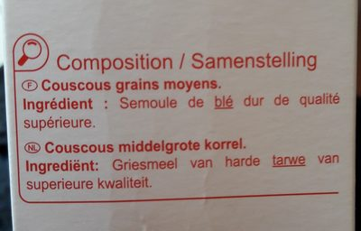 Couscous grains moyens - Ingredientes - fr