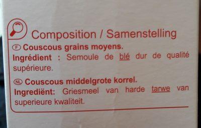 Couscous grains moyens - Ingredients - fr