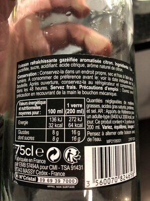 Limonade - Ingredienti - fr