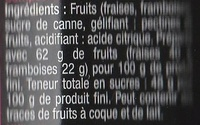 Fraises Framboises - Ingrédients - fr