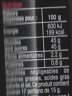 Fraises Framboises - Informations nutritionnelles - fr