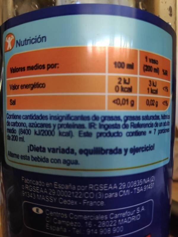 Gaseosa - Nutrition facts - es