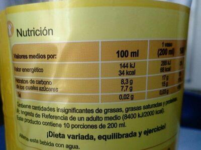 Limonada carrefour - Informations nutritionnelles - es