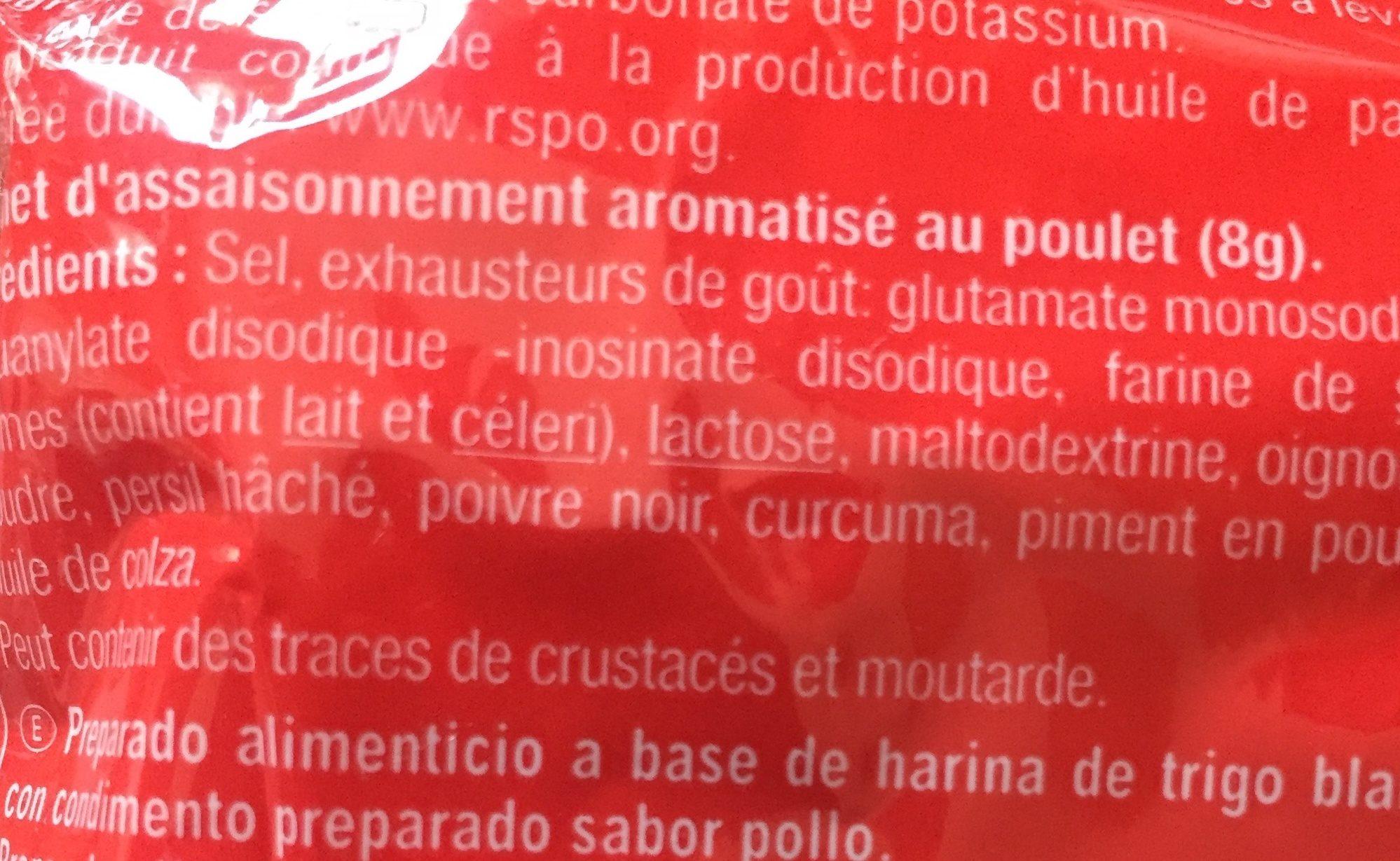Noodles saveur poulet - Ingrediënten - fr