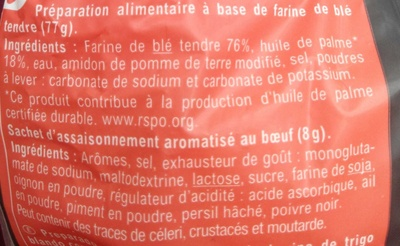 Noodles saveur Bœuf - Ingrediënten - fr