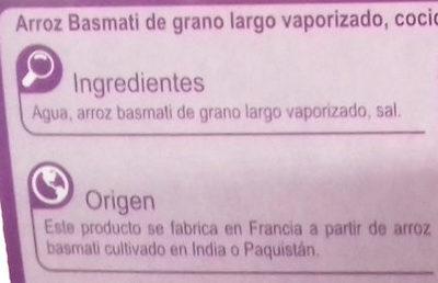 Arroz Basmati - Ingredients - es