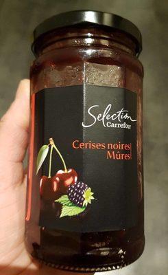Confiture Cerise Noir Mûre - Produit - fr