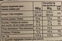 Mélange 3 quinoa - Nutrition facts - fr