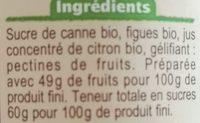 Confiture de figues - Ingrédients - fr