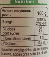 Confiture de figues - Informations nutritionnelles - fr