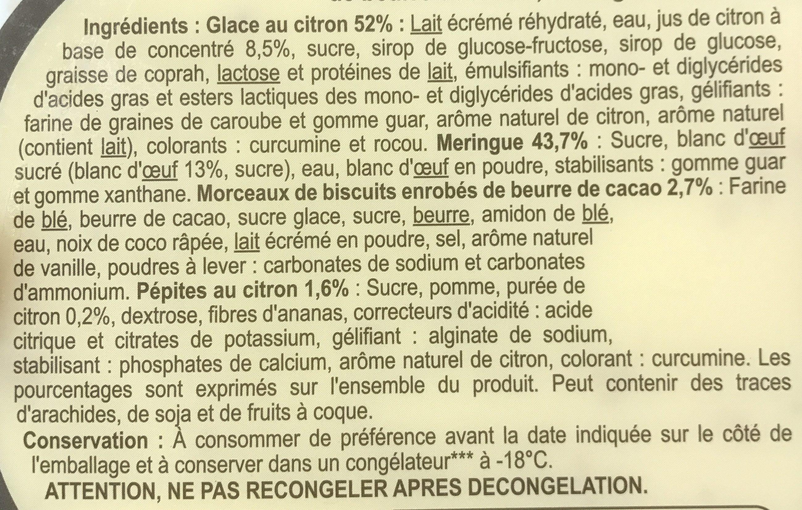 Façon Citron Meringué - Ingrédients - fr