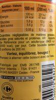 Iced tea - Nutrition facts - fr