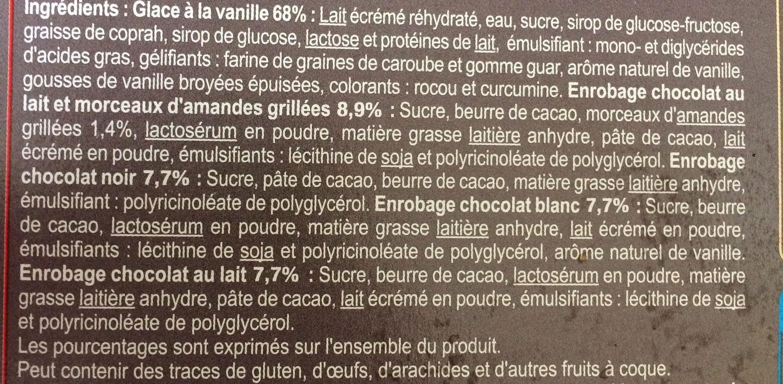 Mini bâtonnets glacés classic-almond-black-white - Ingrédients - fr