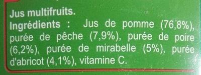 Fruits du Verger - Ingrédients
