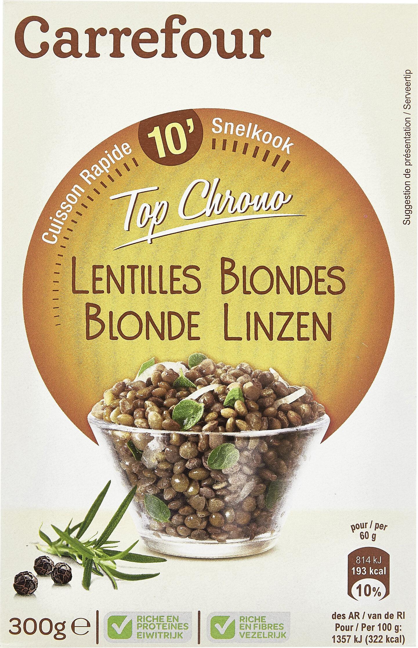 Lentilles blondes Top Chrono' - Produit - fr