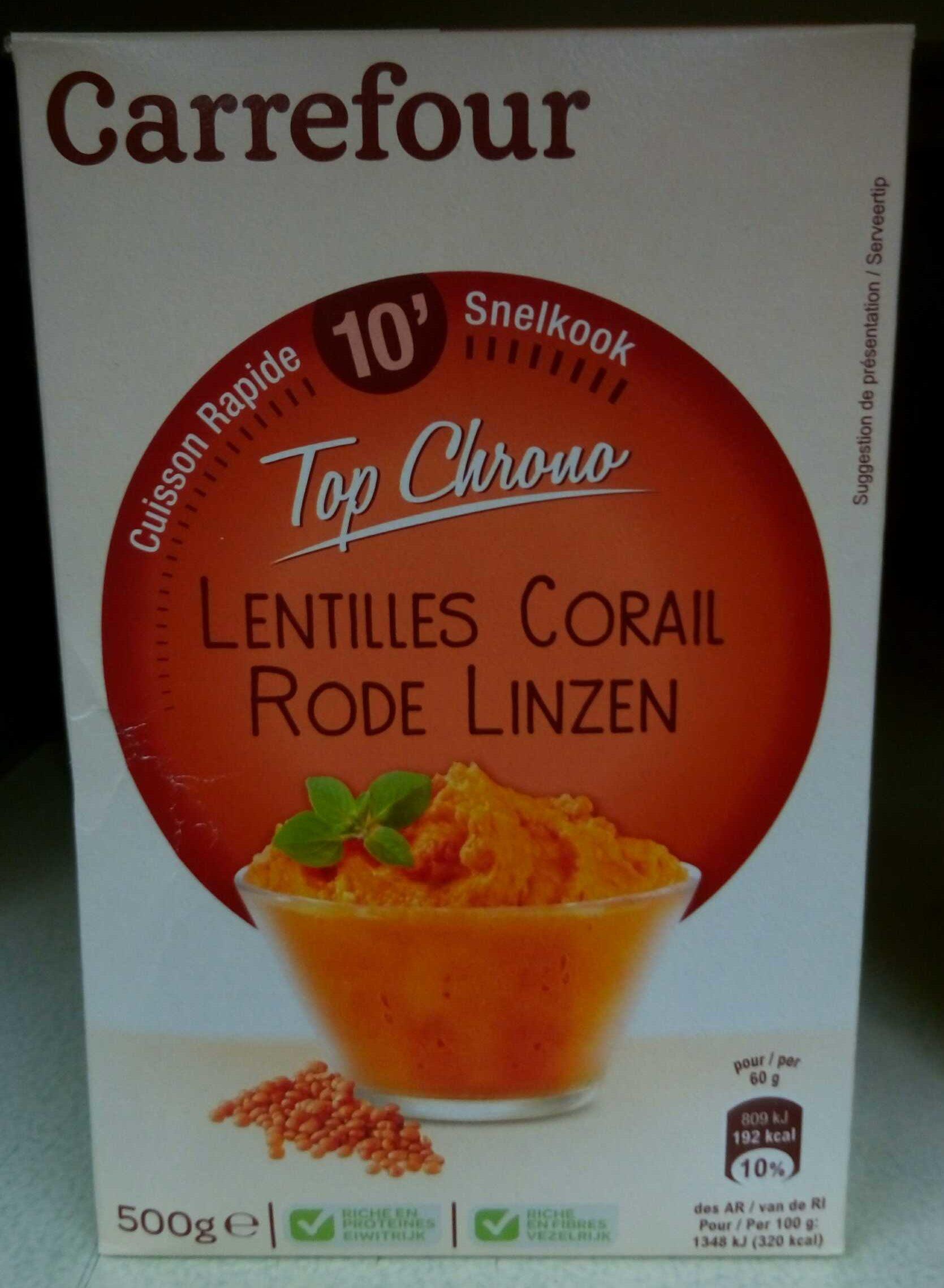 Lentilles Corail Top Chrono - Produit