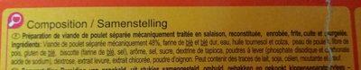 Nuggets de poulet 500g - Ingrédients - fr