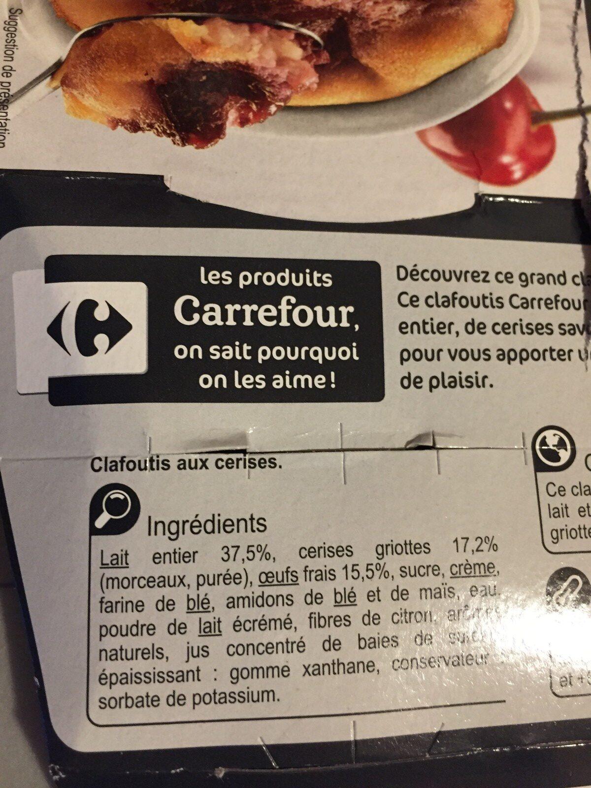 Le Clafoutis - Ingrédients