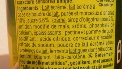 Bifidus Ananas - Ingredients - fr