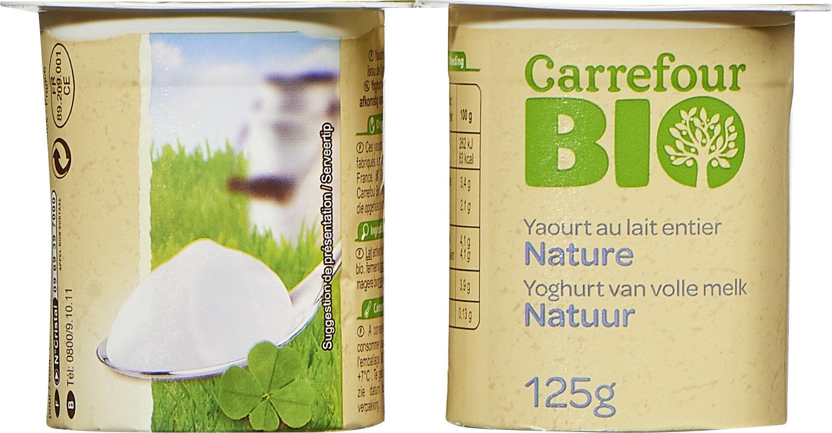 Yaourt au lait entier nature - Продукт - fr
