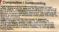 Écrasé de pommes de terre à la Truffe brumale 1% - Ingrediënten - fr