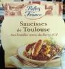 Saucisses de Toulouse Aux lentilles vertes du Berry IGP - Produto