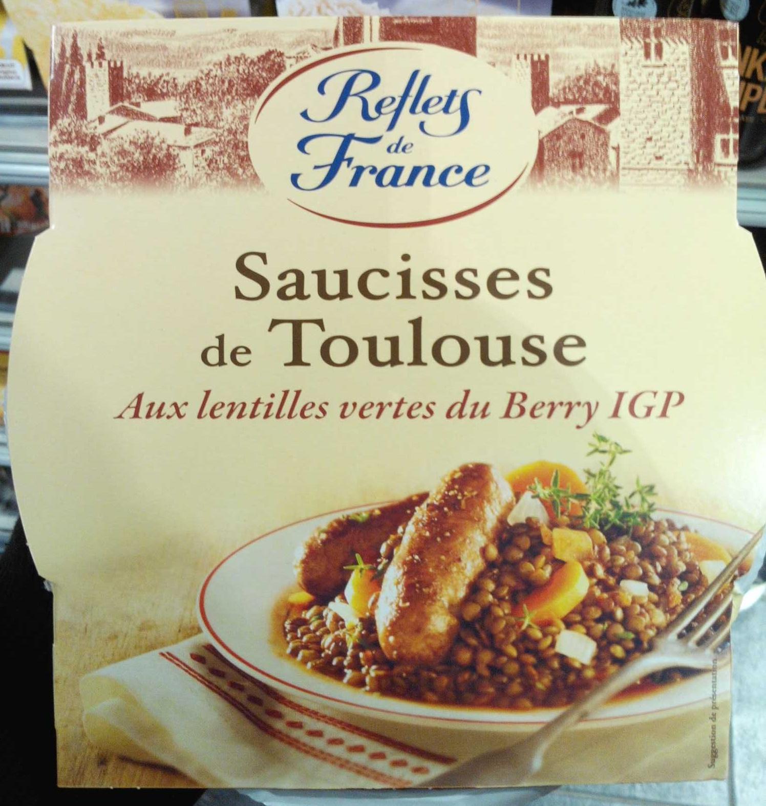 Saucisses de Toulouse Aux lentilles vertes du Berry IGP - Produit