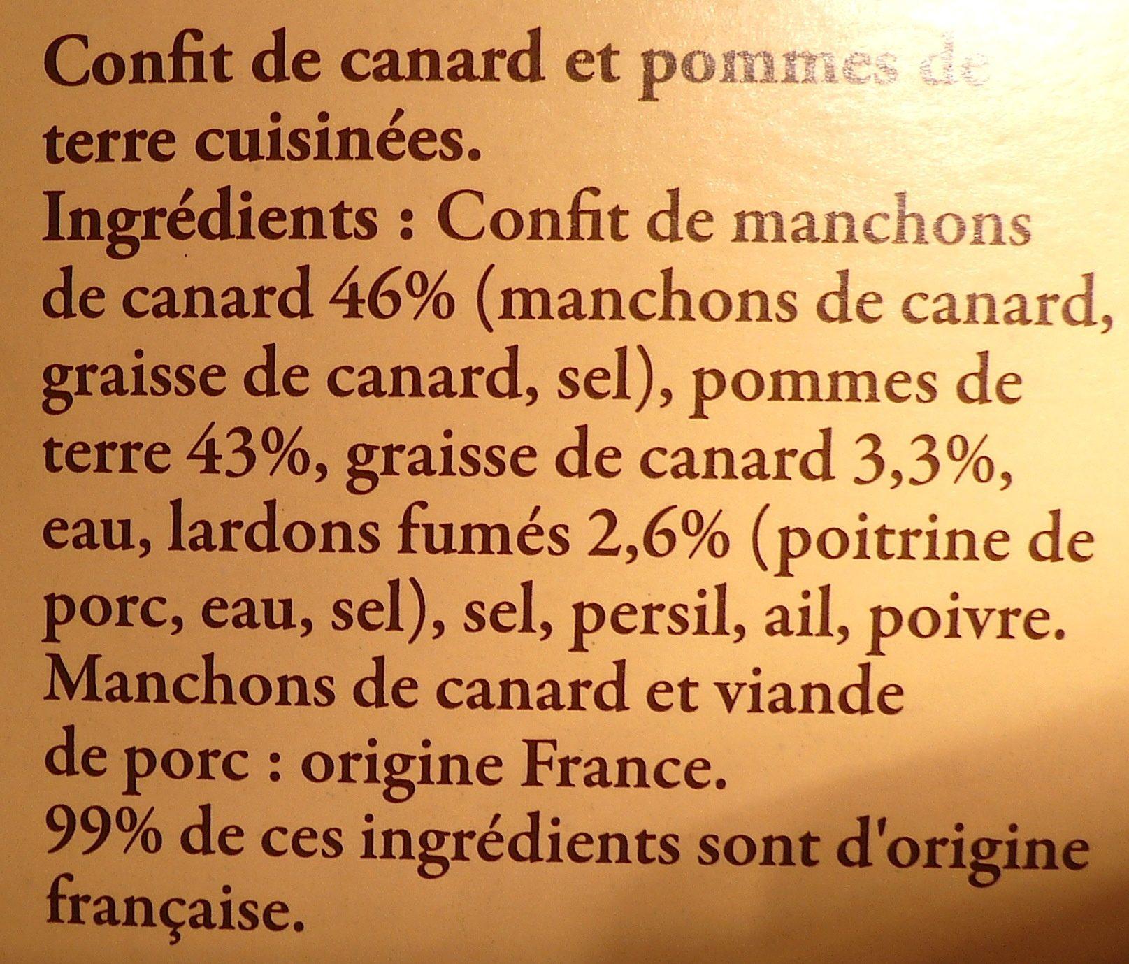 Confit de Canard du Sud-Ouest - Ingrédients