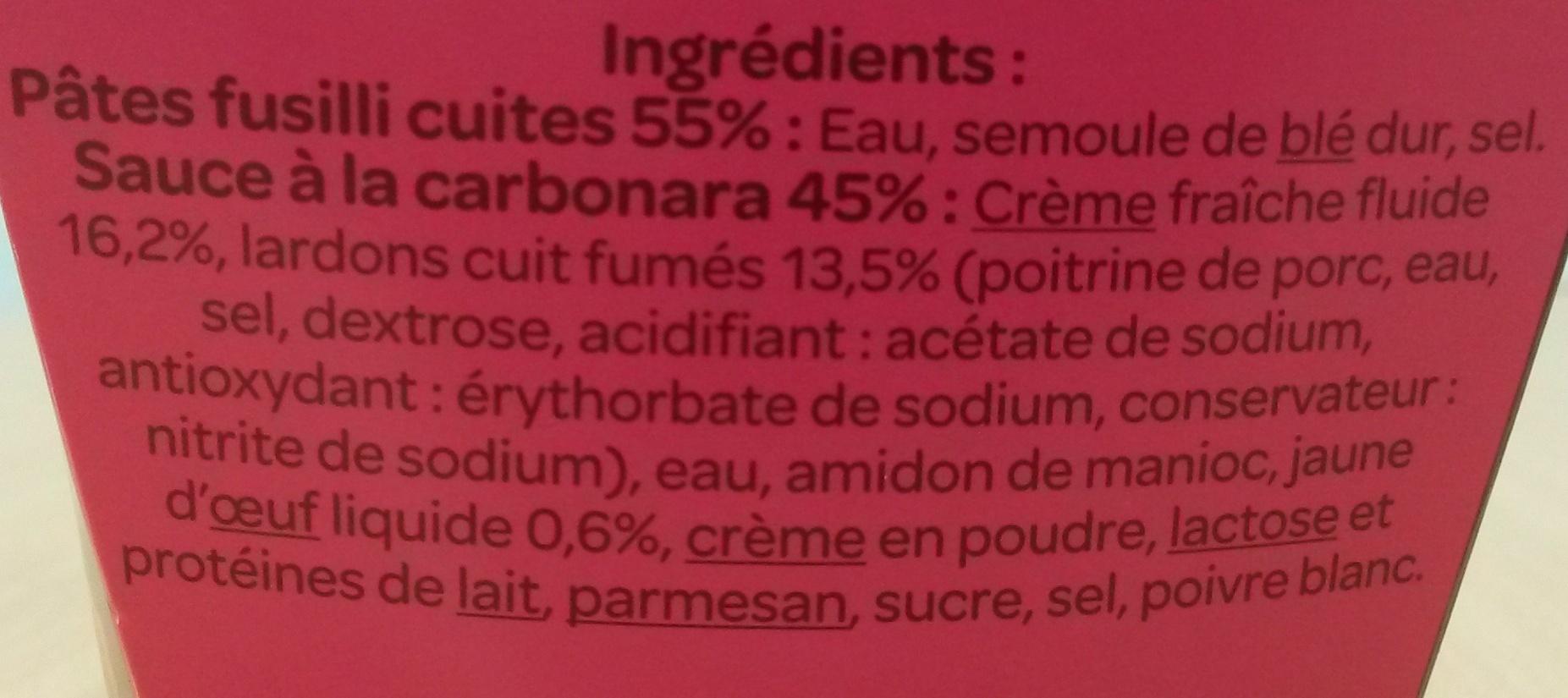 Festonate carbonara - Ingredients - fr