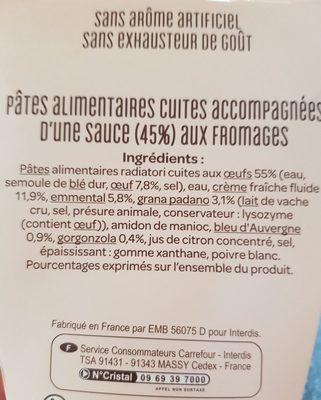Festonate aux fromages - Ingredients - fr