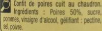 Confit de poires - Ingrédients - fr