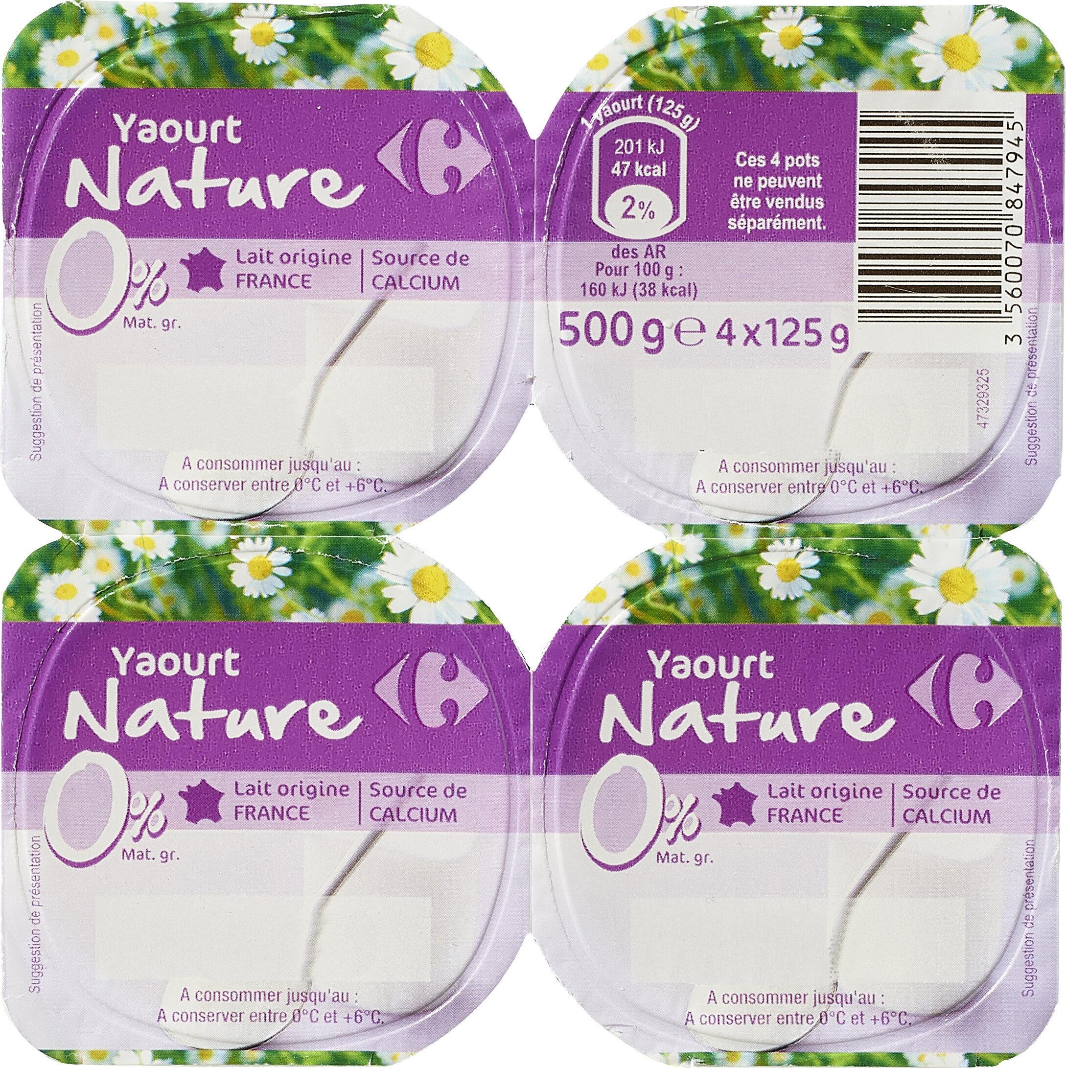 Yaourt nature 0% - Product - fr