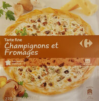 Tarte fine champignons fromages - Product - fr