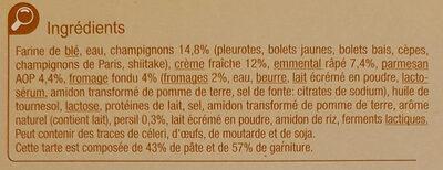 Tarte fine champignons fromages - Ingrediënten - fr