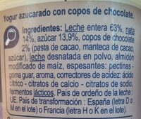 Yogur estilo griego Stracciatella - Ingrediënten - es