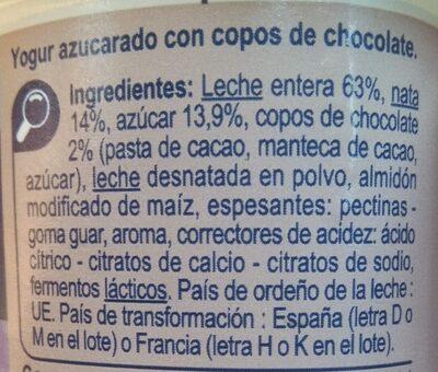 Yogur estilo griego Stracciatella - Ingredients - es