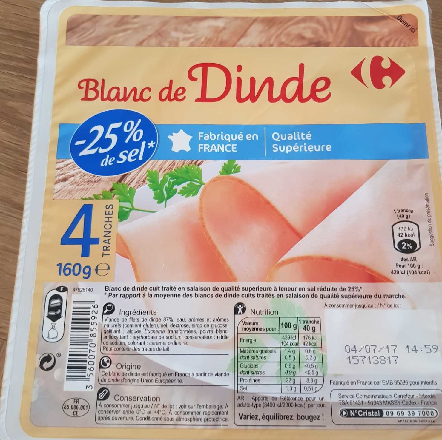 Blanc de Dinde - Product