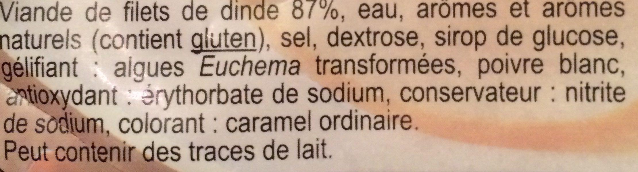 Blanc de Dinde - Ingredients