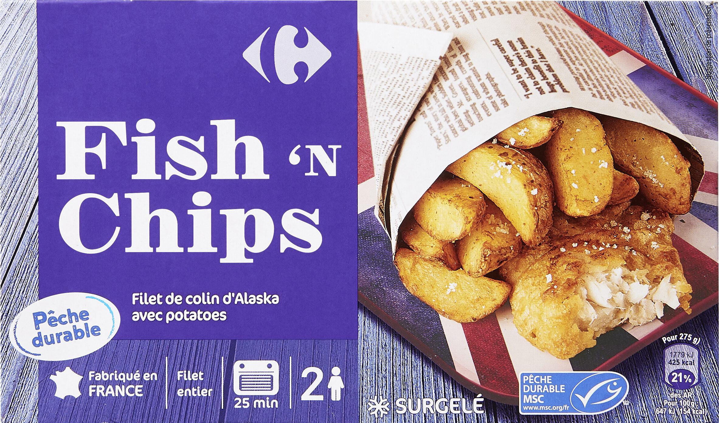 Fish'n Chips Filet de colin d'Alaska avec potatoes - Product - fr