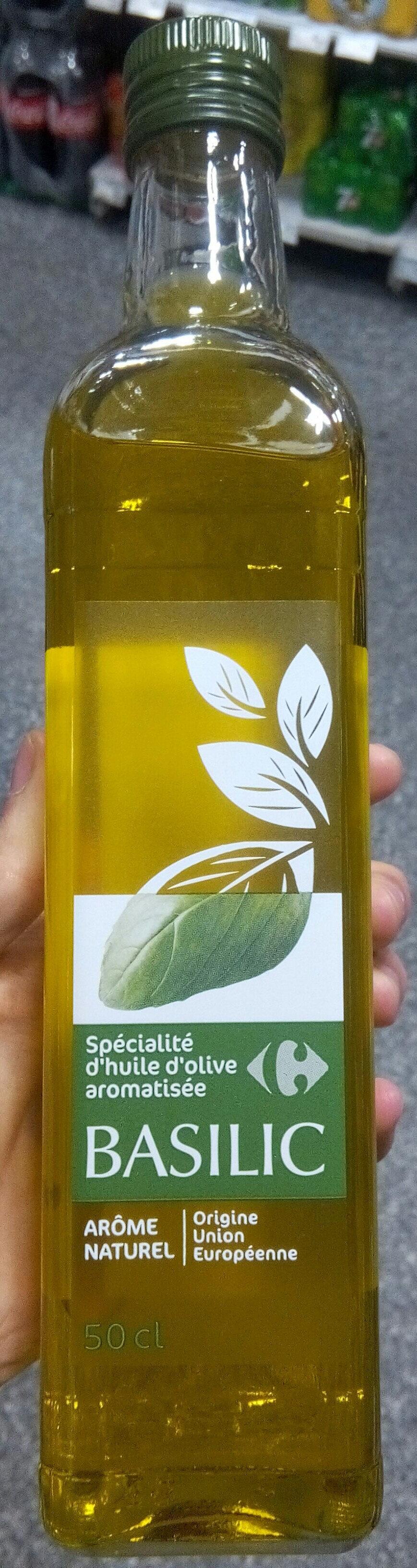 Spécialité Huile d'olive aromatisée au basilic - Product